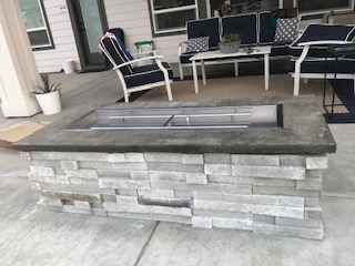 Idaho Custom Patio Fireplace