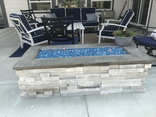 Idaho Patio Fireplace